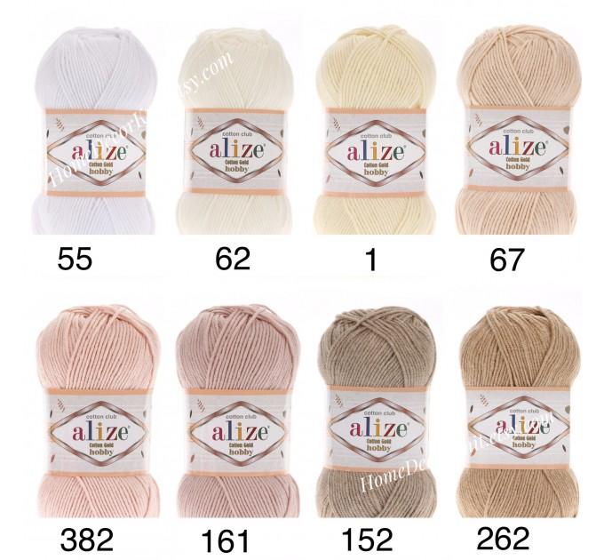 Alize COTTON GOLD HOBBY Yarn Organic Cotton Yarn Crochet Yarn Hypoallergenic Yarn Knitting Yarn Booties Baby Crochet Amigurumi Soft Yarn  Yarn  2