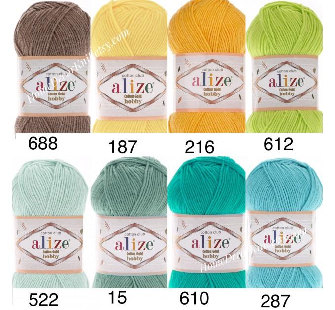 Alize COTTON GOLD HOBBY Yarn Organic Cotton Yarn Crochet Yarn Hypoallergenic Yarn Knitting Yarn Booties Baby Crochet Amigurumi Soft Yarn  Yarn  3