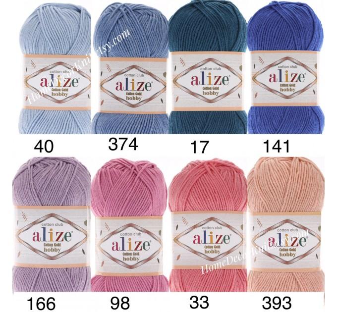 Alize COTTON GOLD HOBBY Yarn Organic Cotton Yarn Crochet Yarn Hypoallergenic Yarn Knitting Yarn Booties Baby Crochet Amigurumi Soft Yarn  Yarn  4