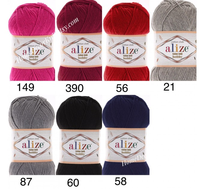Alize COTTON GOLD HOBBY Yarn Organic Cotton Yarn Crochet Yarn Hypoallergenic Yarn Knitting Yarn Booties Baby Crochet Amigurumi Soft Yarn  Yarn  5