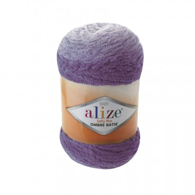 Alize SOFTY PLUS OMBRE Batik Yarn Plush Yarn Gradient Yarn Bulky Yarn Multicolor Yarn Chunky Yarn Baby Rainbow Yarn Color Mix Knitting Yarn