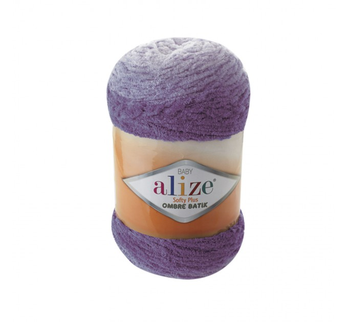 Alize SOFTY PLUS OMBRE Batik Yarn Plush Yarn Gradient Yarn Bulky Yarn Multicolor Yarn Chunky Yarn Baby Rainbow Yarn Color Mix Knitting Yarn  Yarn