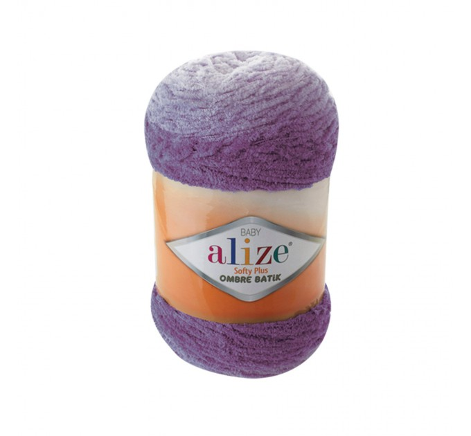 Alize SOFTY PLUS OMBRE Batik Yarn Plush Yarn Gradient Yarn Bulky Yarn Multicolor Yarn Chunky Yarn Baby Rainbow Yarn Color Mix Knitting Yarn  Yarn  1