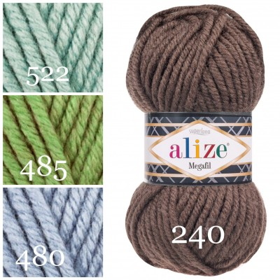 ALIZE SUPERLANA MEGAFIL Yarn Wool Yarn Super Bulky Yarn Acrylic Wool Super Chunky Yarn Crochet Yarn Knitting Yarn Crochet Sweater Poncho