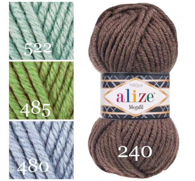 ALIZE SUPERLANA MEGAFIL Yarn Wool Yarn Super Bulky Yarn Acrylic Wool Super Chunky Yarn Crochet Yarn Knitting Yarn Crochet Sweater Poncho  Yarn  2