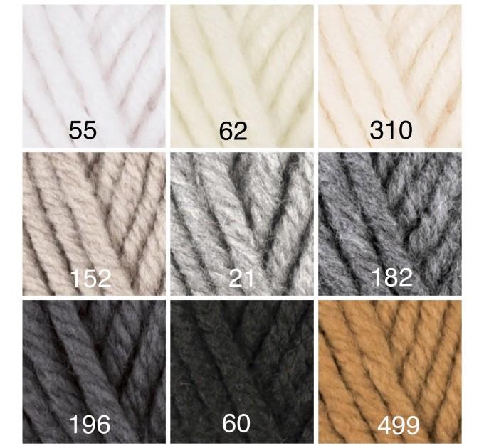 ALIZE SUPERLANA MEGAFIL Yarn Wool Yarn Super Bulky Yarn Acrylic Wool Super Chunky Yarn Crochet Yarn Knitting Yarn Crochet Sweater Poncho  Yarn  1