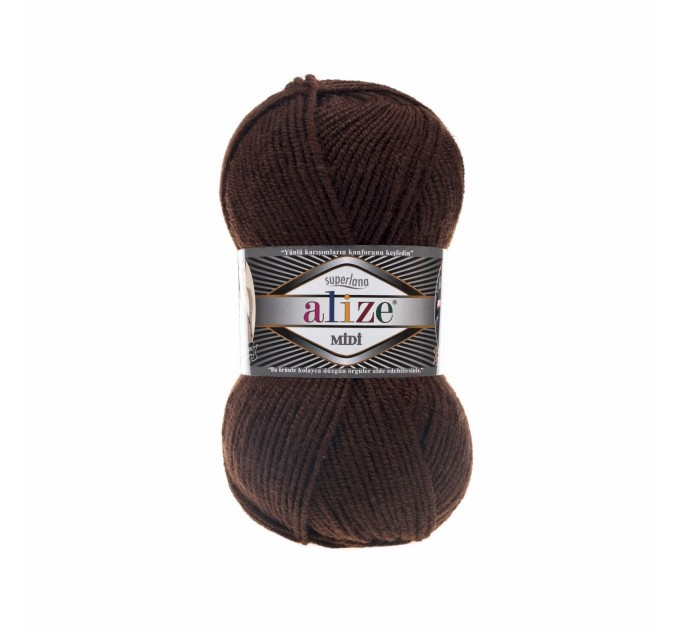 ALIZE SUPERLANA MIDI Yarn Wool Yarn Multicolor Yarn Acrylic Wool Crochet Yarn Knitting Yarn Crochet Sweater Poncho  Yarn