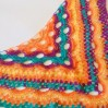 Rainbow Crochet Shawl Wraps Mohair Fringe Big Size Triangle Scarf women Hand Knit brooch Wool Shawl Gifts for Wife Multicolor Hippi Boho