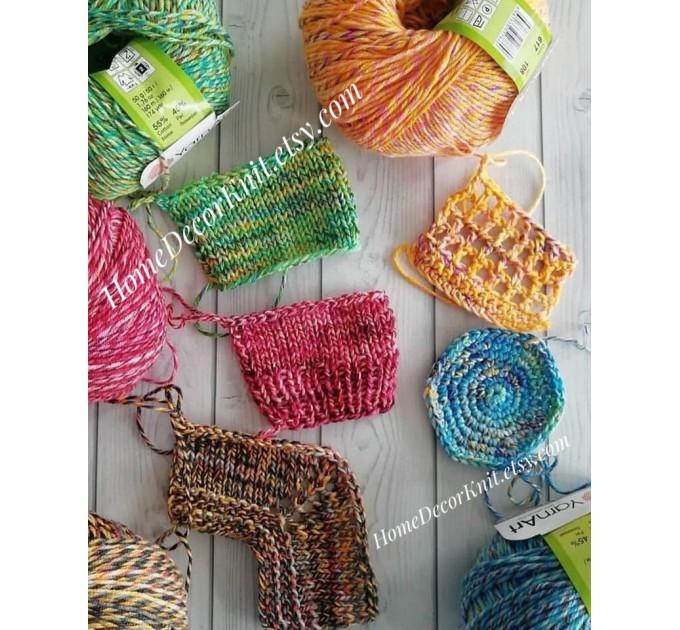 Cotton Yarn, YarnArt JEANS TROPICAL, Gradient Yarn, Knitting Yarn, Crochet, Multicolor Yarn, soft yarn, Baby Yarns Jeans Yarn Hypoallergenic  Yarn  4
