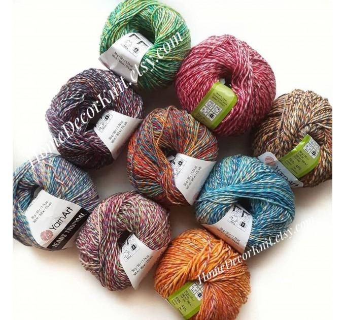 Cotton Yarn, YarnArt JEANS TROPICAL, Gradient Yarn, Knitting Yarn, Crochet, Multicolor Yarn, soft yarn, Baby Yarns Jeans Yarn Hypoallergenic  Yarn  3