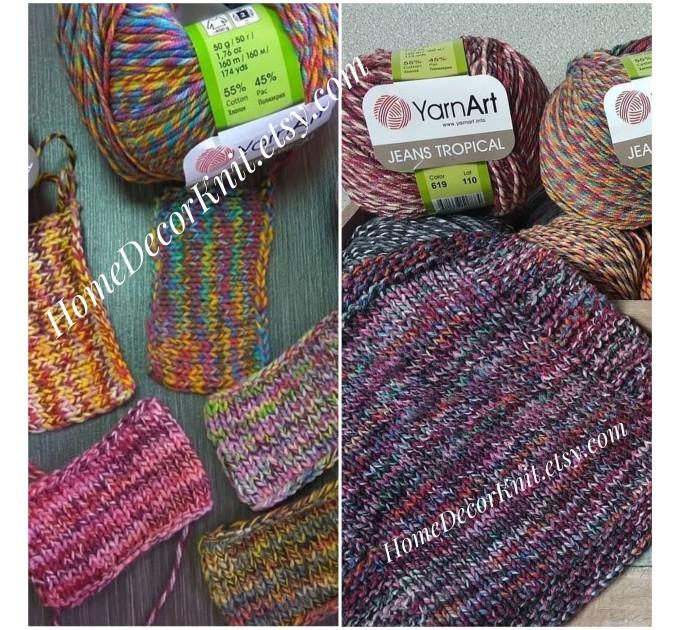 Cotton Yarn, YarnArt JEANS TROPICAL, Gradient Yarn, Knitting Yarn, Crochet, Multicolor Yarn, soft yarn, Baby Yarns Jeans Yarn Hypoallergenic  Yarn  1