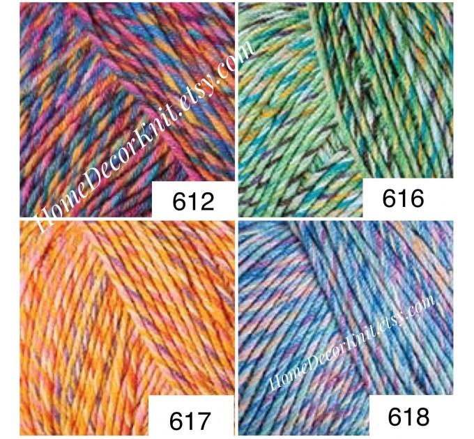 Cotton Yarn, YarnArt JEANS TROPICAL, Gradient Yarn, Knitting Yarn, Crochet, Multicolor Yarn, soft yarn, Baby Yarns Jeans Yarn Hypoallergenic  Yarn  5
