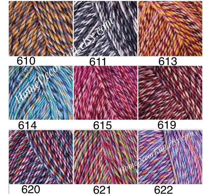 Cotton Yarn, YarnArt JEANS TROPICAL, Gradient Yarn, Knitting Yarn, Crochet, Multicolor Yarn, soft yarn, Baby Yarns Jeans Yarn Hypoallergenic  Yarn  6