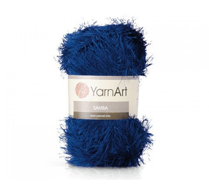 YARNART SAMBA Yarn, Eyelash Yarn, Fur Yarn, Purple Eyelash Yarn, Shaggy Yarn, Faux Fur, Fan Fur Yarn, Long Eyelash Yarn, Fake Fur Yarn  Yarn