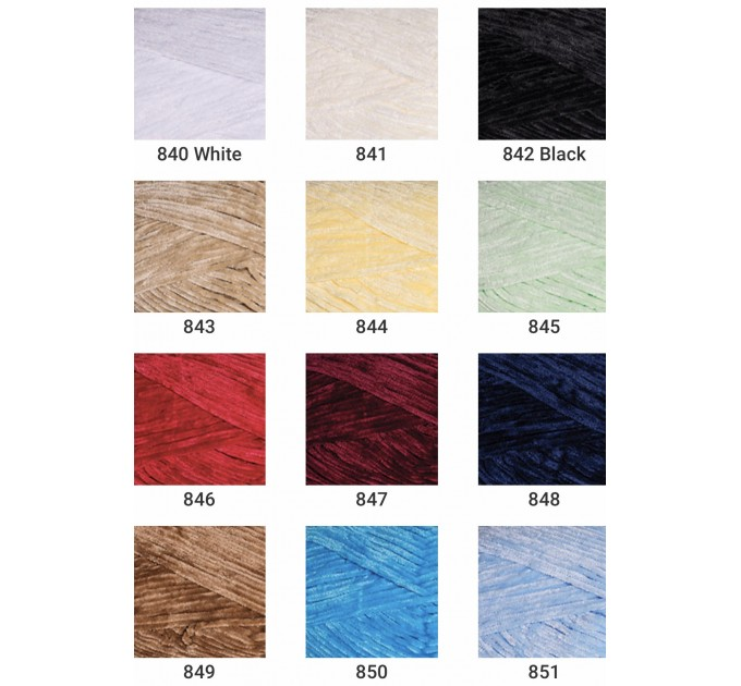 YARNART VELOUR Yarn, Velvet Yarn, Velour Yarn, Plush Yarn, Bulky Yarn, Soft Yarn, Hypoallergenic, Baby yarn, Summer yarn, Crochet Yarn  Yarn  2