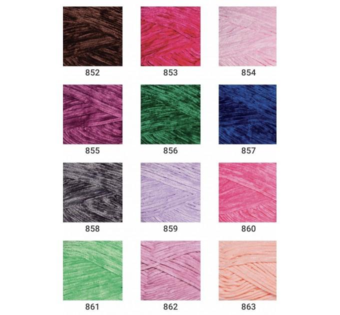 YARNART VELOUR Yarn, Velvet Yarn, Velour Yarn, Plush Yarn, Bulky Yarn, Soft Yarn, Hypoallergenic, Baby yarn, Summer yarn, Crochet Yarn  Yarn  1
