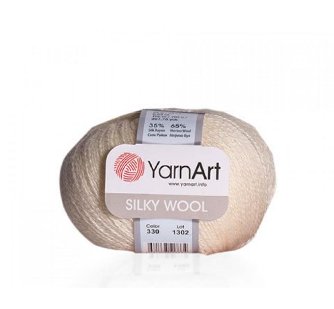 YARNART SILKY WOOL Yarn, Blend Wool, Silky Wool, Merino Wool Yarn, Silk Yarn, Wool Yarn, Viscose Yarn, Soft Yarn, Crochet Rayon Yarn  Yarn  2