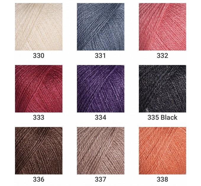 YARNART SILKY WOOL Yarn, Blend Wool, Silky Wool, Merino Wool Yarn, Silk Yarn, Wool Yarn, Viscose Yarn, Soft Yarn, Crochet Rayon Yarn  Yarn  1