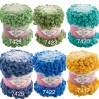 Alize PUFFY OMBRE BATIK Yarn 600gr, Gradient Rainbow Yarn, Easy Finger Knitting Yarn No hook No neddle, Velvet, Super Chunky Yarn Mandala