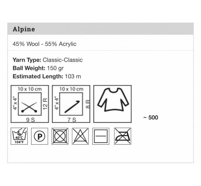 YARNART ALPINE Yarn Wool Yarn Chunky Wool Yarn Acrylic Yarn, Super Chunky Yarn, Big Yarn, Super Bulky Yarn, Hand Knit Yarn  Yarn  4