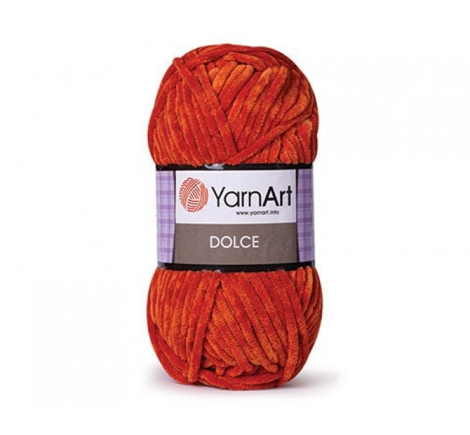 YARNART DOLCE Yarn, Velour Yarn, Plush Yarn, Bulky Yarn, Soft Yarn, Hypoallergenic Yarn, Velvet Yarn, Baby yarn, Summer yarn, Crochet Yarn  Yarn