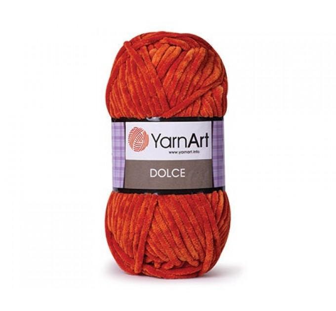 YARNART DOLCE Yarn, Velour Yarn, Plush Yarn, Bulky Yarn, Soft Yarn, Hypoallergenic Yarn, Velvet Yarn, Baby yarn, Summer yarn, Crochet Yarn  Yarn  1