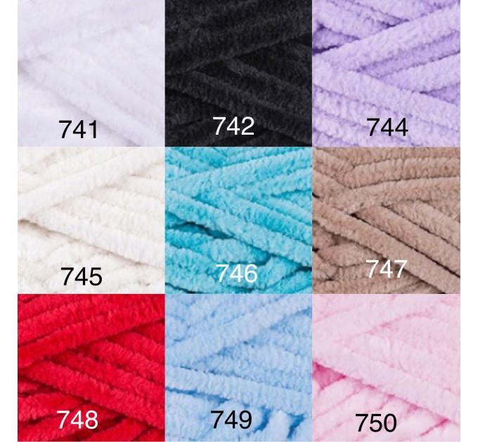 YARNART DOLCE Yarn, Velour Yarn, Plush Yarn, Bulky Yarn, Soft Yarn, Hypoallergenic Yarn, Velvet Yarn, Baby yarn, Summer yarn, Crochet Yarn  Yarn  2