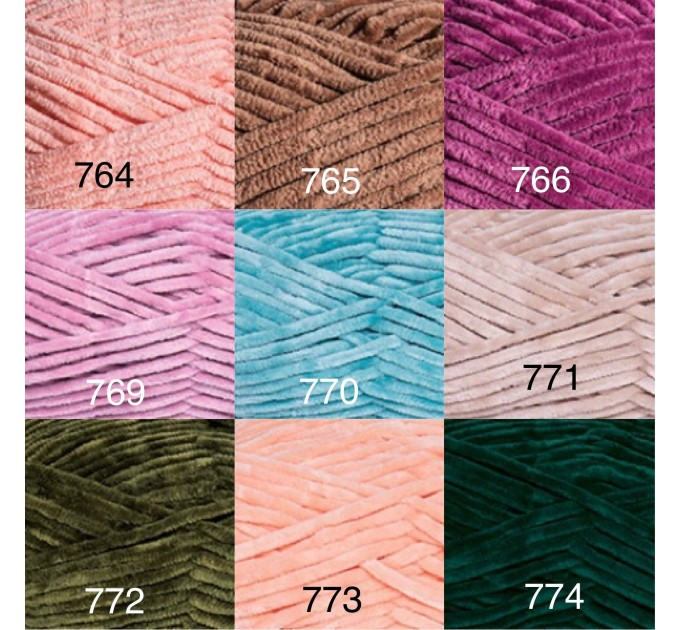 YARNART DOLCE Yarn, Velour Yarn, Plush Yarn, Bulky Yarn, Soft Yarn, Hypoallergenic Yarn, Velvet Yarn, Baby yarn, Summer yarn, Crochet Yarn  Yarn  4
