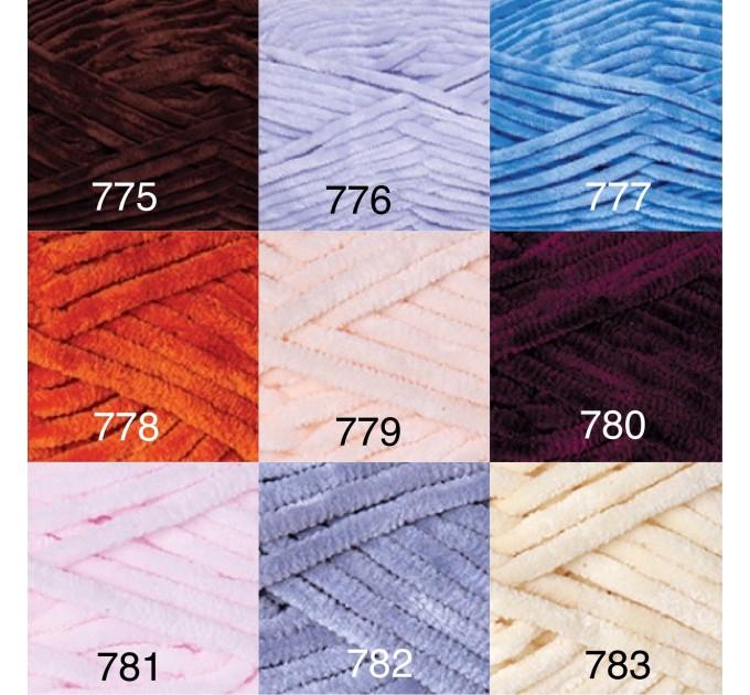 YARNART DOLCE Yarn, Velour Yarn, Plush Yarn, Bulky Yarn, Soft Yarn, Hypoallergenic Yarn, Velvet Yarn, Baby yarn, Summer yarn, Crochet Yarn  Yarn  5
