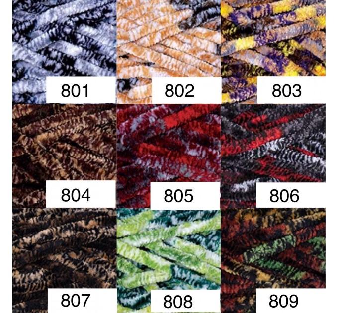 YARNART DOLCE Yarn, Velour Yarn, Plush Yarn, Bulky Yarn, Soft Yarn, Hypoallergenic Yarn, Velvet Yarn, Baby yarn, Summer yarn, Crochet Yarn  Yarn  6