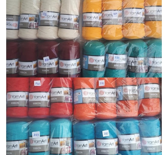 YARNART RIBBON Yarn Cotton Yarn Bag Yarn Yarn Crochet Bag t-shirt yarn Crochet Rug Chunky Yarn Cotton Recycled Yarn Rug Yarn Bulky Yarn  Yarn  6