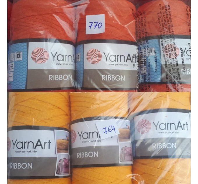 YARNART RIBBON Yarn Cotton Yarn Bag Yarn Yarn Crochet Bag t-shirt yarn Crochet Rug Chunky Yarn Cotton Recycled Yarn Rug Yarn Bulky Yarn  Yarn  7