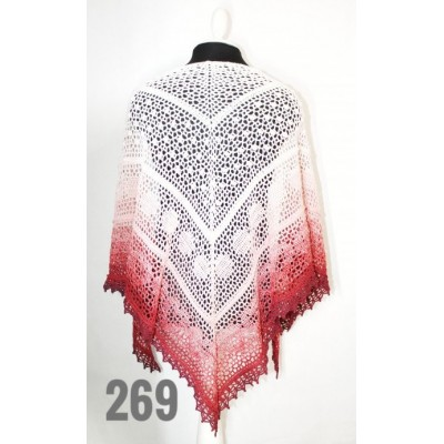 White Crochet Lace Shawl Wraps Shawl Boho Triangle Pink Scarf for Women Cotton Rainbow Floral Hand Knit Shawl Large Summer