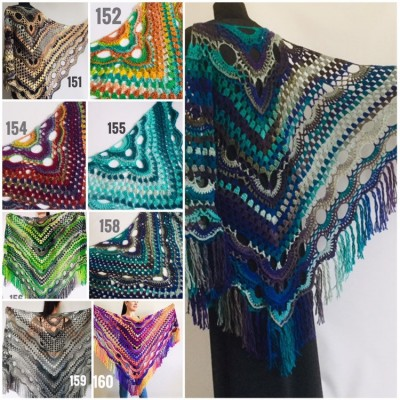 Large shawl, virus shawl, Boho triangle crochet shawl festival outlander shawl Knit long fringe shawl Evening Shawl Purple Emerald Blue Gray