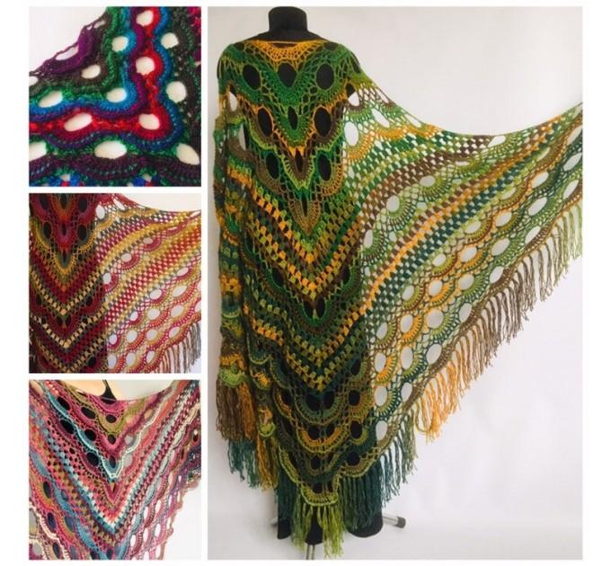 Outlander crochet Shawl Green  Shawl / Wraps