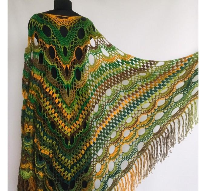Outlander crochet Shawl Green  Shawl / Wraps  4