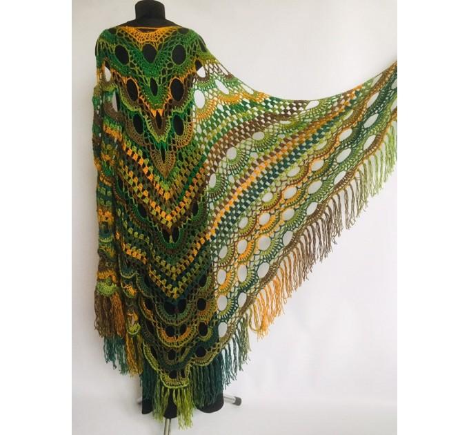 Outlander crochet Shawl Green  Shawl / Wraps  6