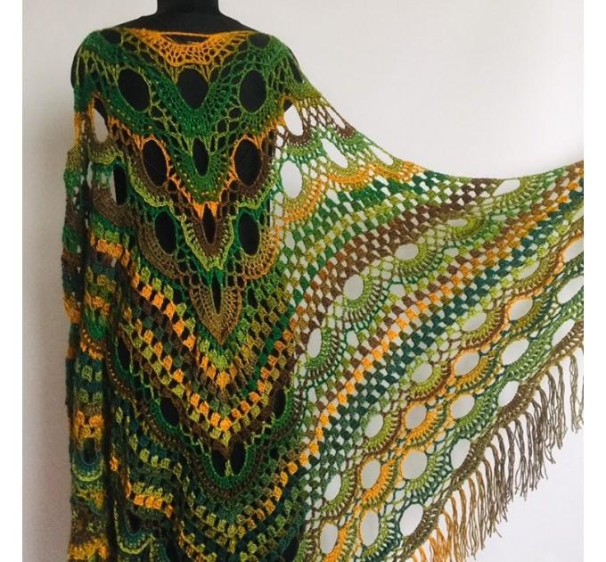 Outlander crochet Shawl Green  Shawl / Wraps  7