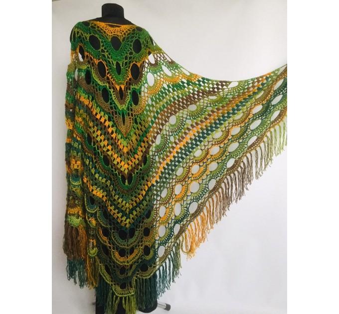 Outlander crochet Shawl Green  Shawl / Wraps  9