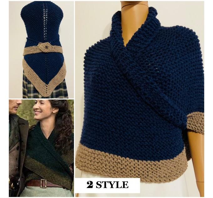 Outlander shawl Claire's Shawl sontag shawl alpaca wool shawl shoulder wrap triangle shawl Carolina Shawl outlander costume  Shawl Alpaca  10