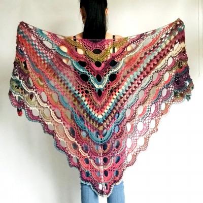 Maroon shawl mexico shawl gradient shawl burgundy shawl off shoulder tribal shawl triangle shawl ombre crochet shawl fringe festival clothes