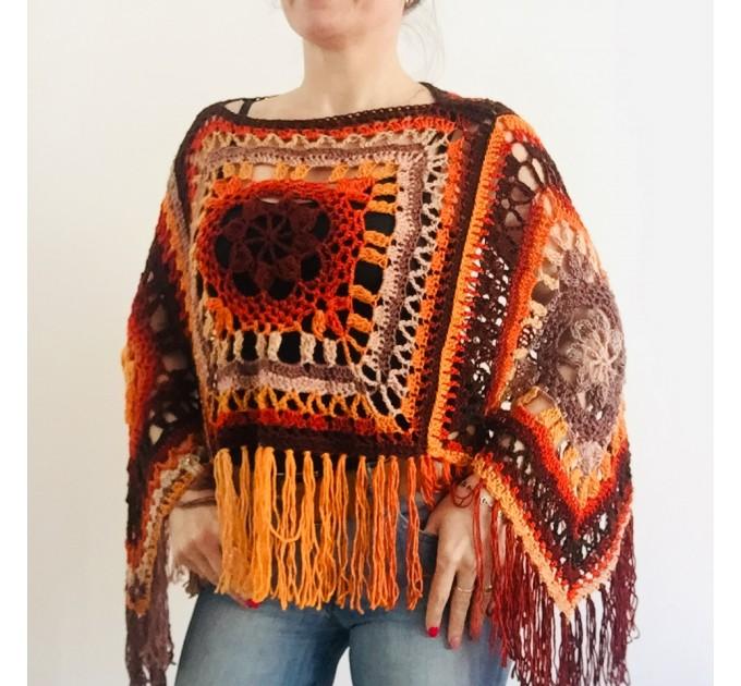 Green wool poncho women Festival Loose knit oversized poncho, Crochet lace hippie plus size poncho cape Evening shawl wraps  Wool  7