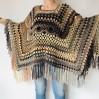 Brown poncho hoodie ombre wool cape poncho fringe alternative clothing boho shawl knit poncho black halloween poncho wrap mexico poncho
