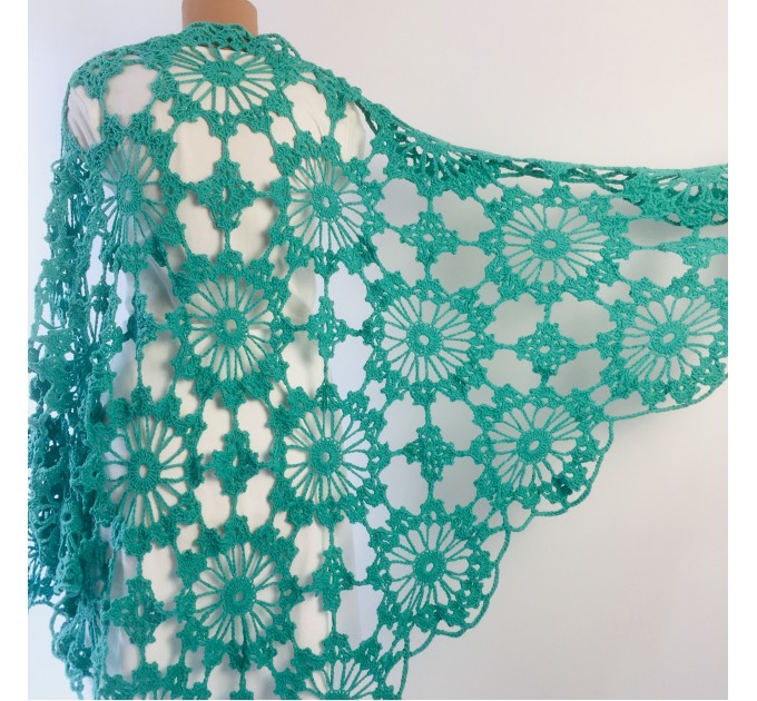 Ivory Bride Shawl Fringe, wedding cape Mohair wedding capelet, Bridal Cape, Bridesmaid shawl, Wedding wrap, Cotton shawl Lace boho  Shawl / Wraps  3