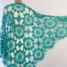 Turquoise Bride Shawl Fringe, Emerald bridesmaid shawl Mohair bridal shawl, Bridal Cape, Bridesmaid shawl, Wedding wrap, Cotton shawl Lace