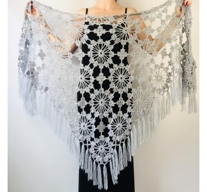 Ivory Bride Shawl Fringe, wedding cape Mohair wedding capelet, Bridal Cape, Bridesmaid shawl, Wedding wrap, Cotton shawl Lace boho  Shawl / Wraps  2