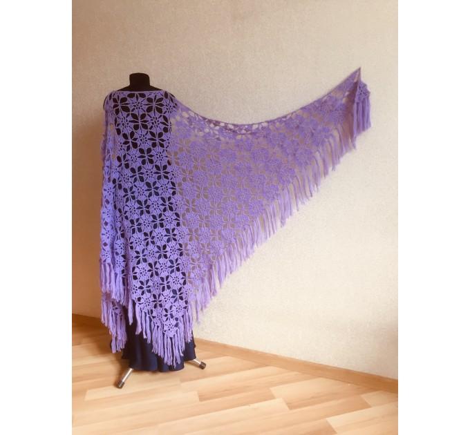 Black Alpaca shawl Wedding shawl, Mohair Bridal cover up, warm wool Triangle shawl fringe, Black lace shawl, Bridesmaid gift, Bride shawl  Shawl / Wraps  1