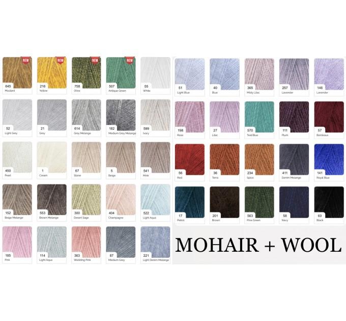 Black Alpaca shawl Wedding shawl, Mohair Bridal cover up, warm wool Triangle shawl fringe, Black lace shawl, Bridesmaid gift, Bride shawl  Shawl / Wraps  8