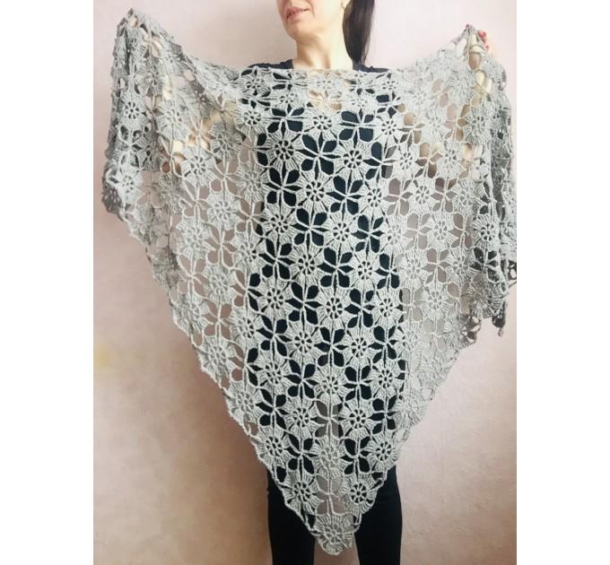Black Alpaca shawl Wedding shawl, Mohair Bridal cover up, warm wool Triangle shawl fringe, Black lace shawl, Bridesmaid gift, Bride shawl  Shawl / Wraps  6