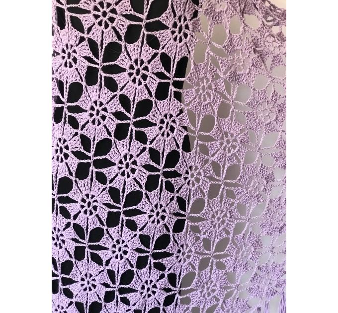 Black Alpaca shawl Wedding shawl, Mohair Bridal cover up, warm wool Triangle shawl fringe, Black lace shawl, Bridesmaid gift, Bride shawl  Shawl / Wraps  5